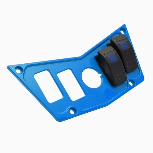 Blue Aluminum Dash Panel Polaris RZR 900 11