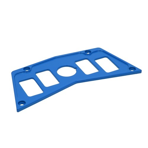 Blue Aluminum Dash Panel Polaris RZR 900 3