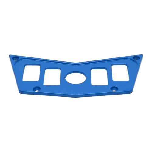 Blue Aluminum Dash Panel Polaris RZR 900 4