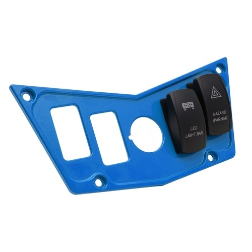 Blue Aluminum Dash Panel Polaris RZR 900 7