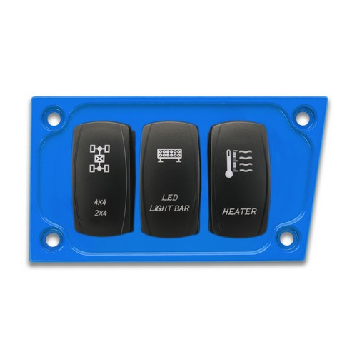 Blue Aluminum Lower Side Dash Panel Polaris RZR1000 2