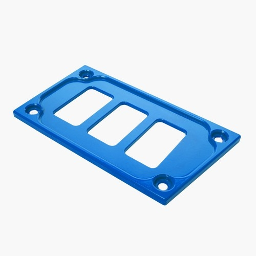 Blue Aluminum Lower Side Dash Panel Polaris RZR1000 4