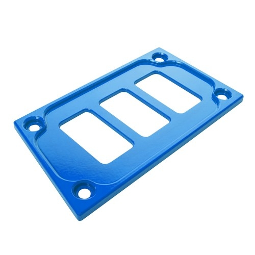 Blue Aluminum Lower Side Dash Panel Polaris RZR1000 5