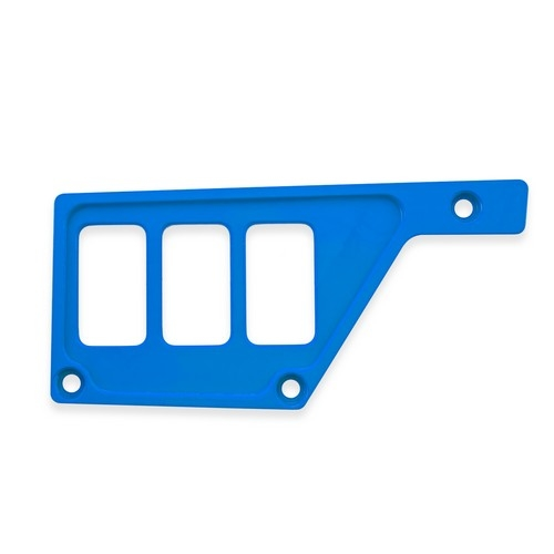 Blue Aluminum Side Dash Panel Polaris RZR1000 1
