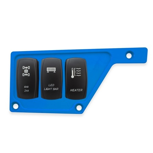 Blue Aluminum Side Dash Panel Polaris RZR1000 2