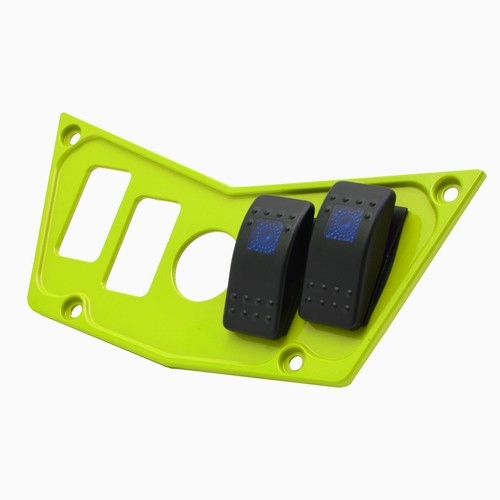 Lime Aluminum Dash Panel Polaris RZR 900 10