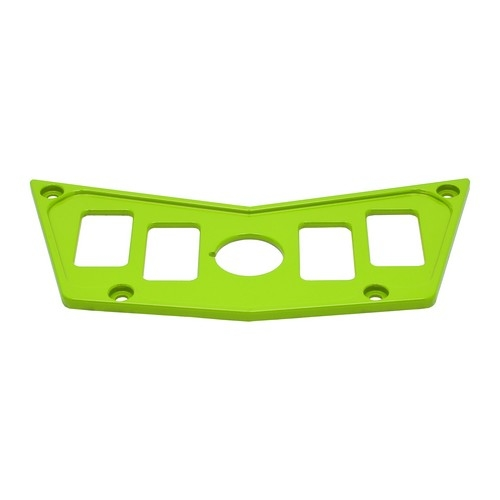 Lime Aluminum Dash Panel Polaris RZR 900 4
