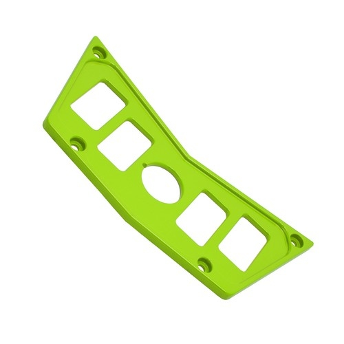 Lime Aluminum Dash Panel Polaris RZR 900 5