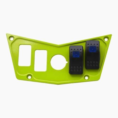 Lime Aluminum Dash Panel Polaris RZR 900 9
