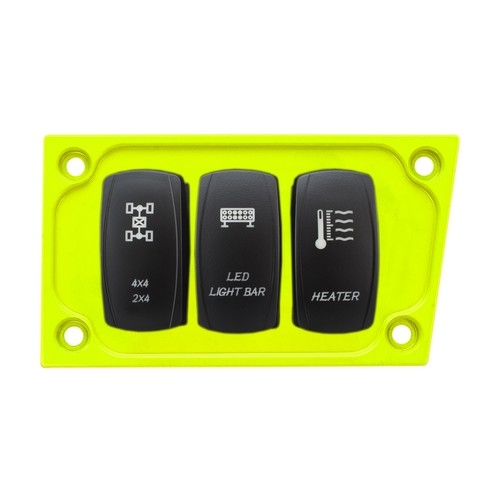 Lime Aluminum Lower Side Dash Panel Polaris RZR1000 3