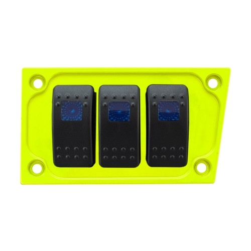 Lime Aluminum Lower Side Dash Panel Polaris RZR1000 6
