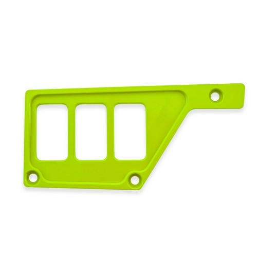 Lime Aluminum Side Dash Panel Polaris RZR1000 5