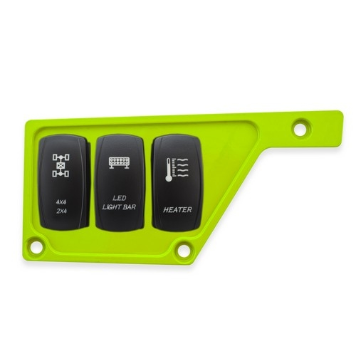 Lime Aluminum Side Dash Panel Polaris RZR1000 6
