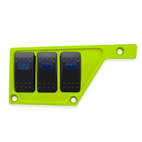 Lime Aluminum Side Dash Panel Polaris RZR1000 7