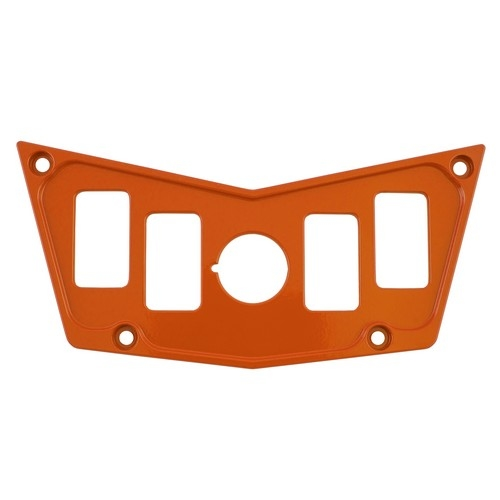 Orange Aluminum Dash Panel Polaris RZR 900 1
