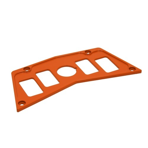 Orange Aluminum Dash Panel Polaris RZR 900 3