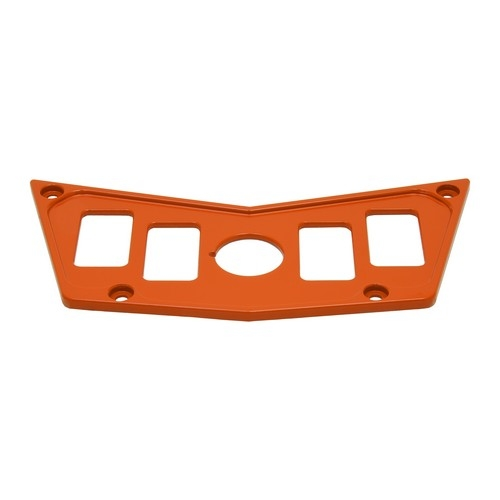 Orange Aluminum Dash Panel Polaris RZR 900 4