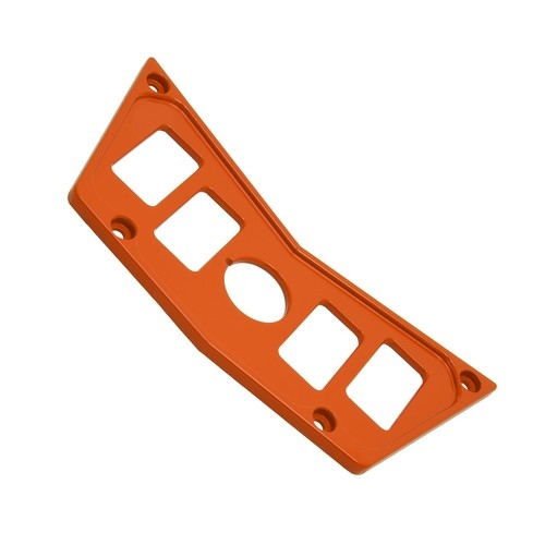 Orange Aluminum Dash Panel Polaris RZR 900 5