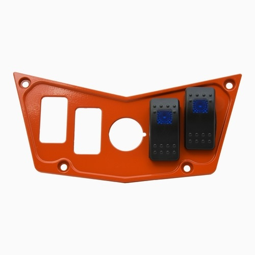 Orange Aluminum Dash Panel Polaris RZR 900 9