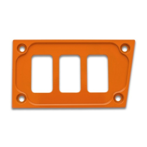 Orange Aluminum Lower Side Dash Panel Polaris RZR1000 1