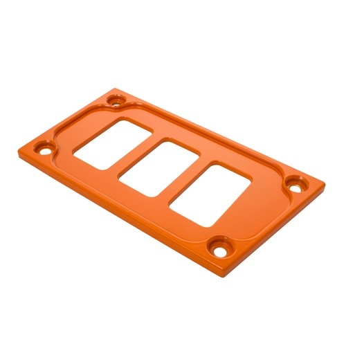 Orange Aluminum Lower Side Dash Panel Polaris RZR1000 2