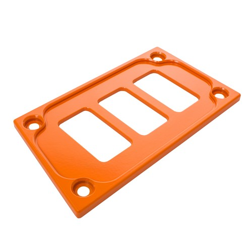 Orange Aluminum Lower Side Dash Panel Polaris RZR1000 3