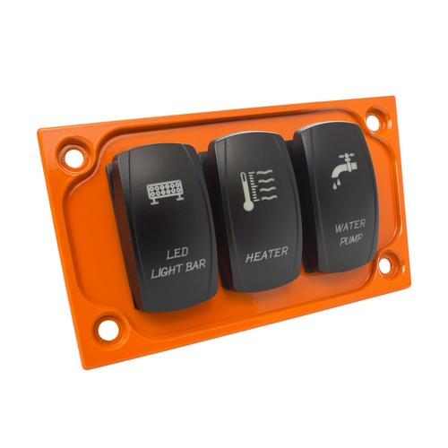 Orange Aluminum Lower Side Dash Panel Polaris RZR1000 5