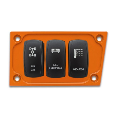 Orange Aluminum Lower Side Dash Panel Polaris RZR1000 7