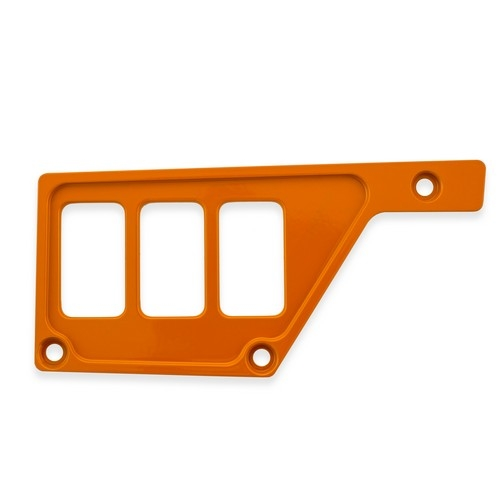 Orange Aluminum Side Dash Panel Polaris RZR1000 1