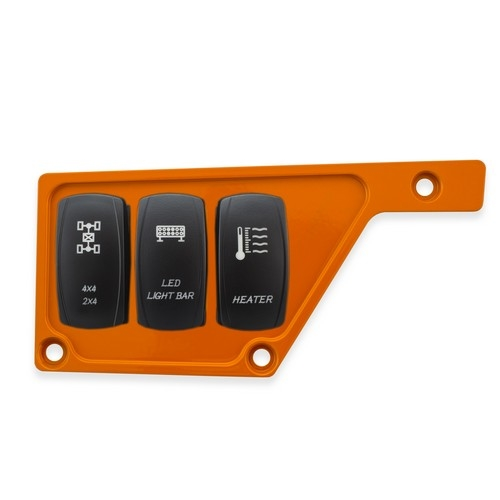 Orange Aluminum Side Dash Panel Polaris RZR1000 2
