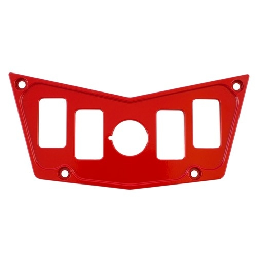Red Aluminum Dash Panel Polaris RZR 900 1