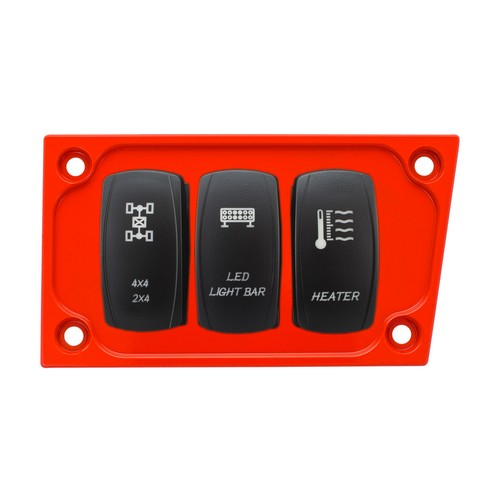 Red Aluminum Lower Side Dash Panel Polaris RZR1000 2