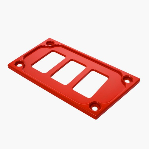Red Aluminum Lower Side Dash Panel Polaris RZR1000 4