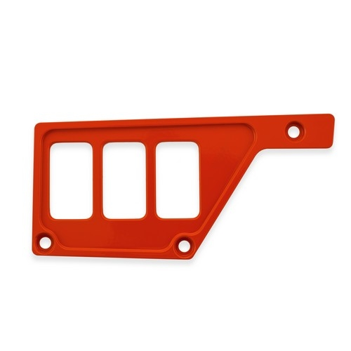 Red Aluminum Side Dash Panel Polaris RZR1000 1