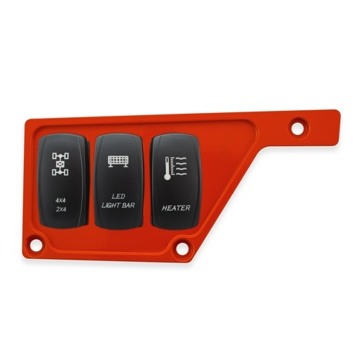 Red Aluminum Side Dash Panel Polaris RZR1000 2