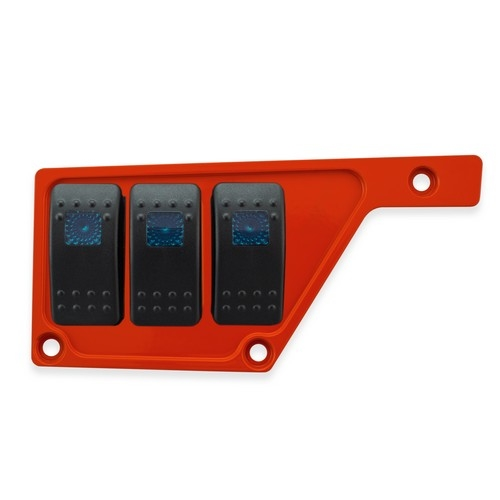 Red Aluminum Side Dash Panel Polaris RZR1000 3