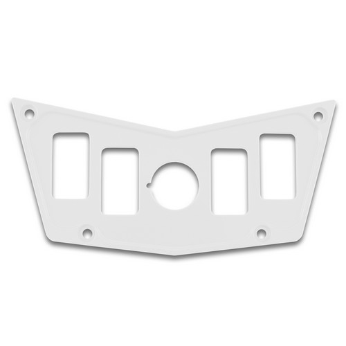 White Aluminum Dash Panel Polaris RZR 900 1