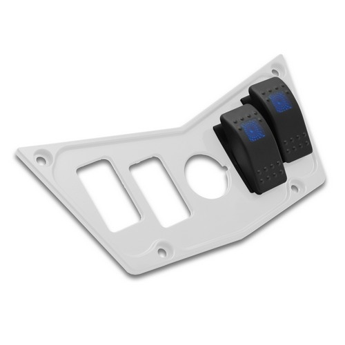 White Aluminum Dash Panel Polaris RZR 900 11