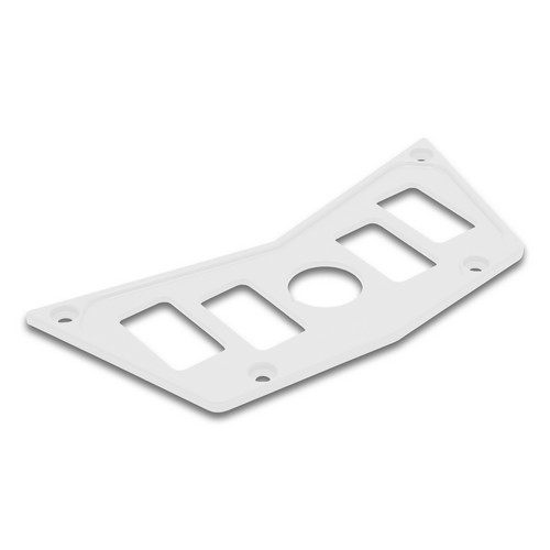White Aluminum Dash Panel Polaris RZR 900 2