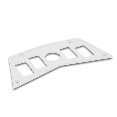 White Aluminum Dash Panel Polaris RZR 900 3