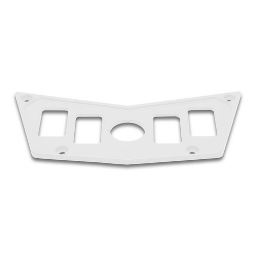 White Aluminum Dash Panel Polaris RZR 900 4