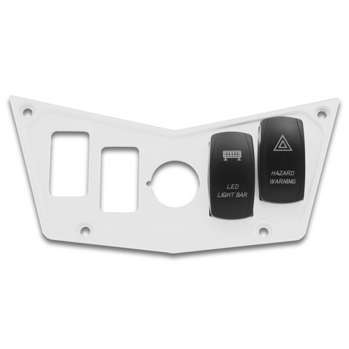 White Aluminum Dash Panel Polaris RZR 900 8