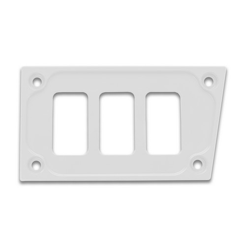 White Aluminum Lower Side Dash Panel Polaris RZR1000 1