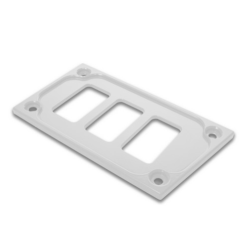 White Aluminum Lower Side Dash Panel Polaris RZR1000 4