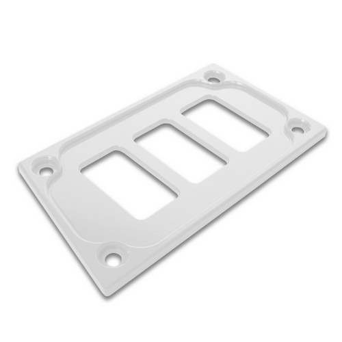 White Aluminum Lower Side Dash Panel Polaris RZR1000 5