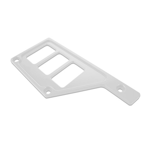 White Aluminum Side Dash Panel Polaris RZR1000 1