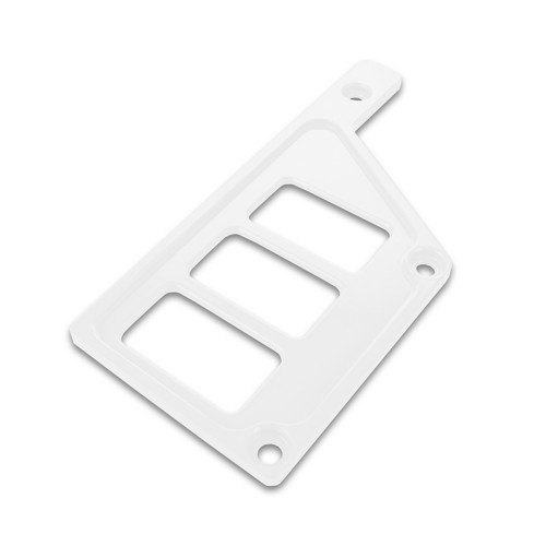 White Aluminum Side Dash Panel Polaris RZR1000 4