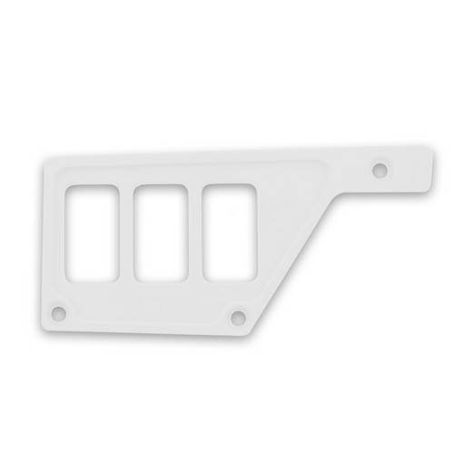 White Aluminum Side Dash Panel Polaris RZR1000 5