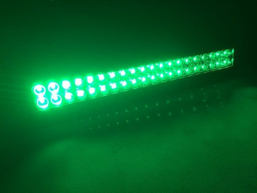 led light bar white-green strobe 1