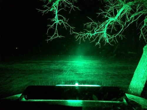 led light bar white-green strobe 2